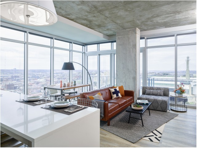 Image of Panoramic Views of Downtown Kansas City for Two Light Luxury Apartments