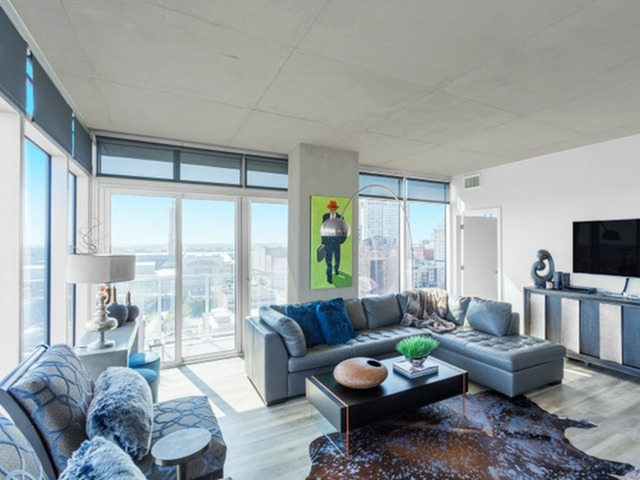 Image of Open Concept Floor Plan for Two Light Luxury Apartments