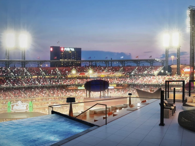 Image of Expansive Terrace Overlooking Busch Stadium for One Cardinal Way
