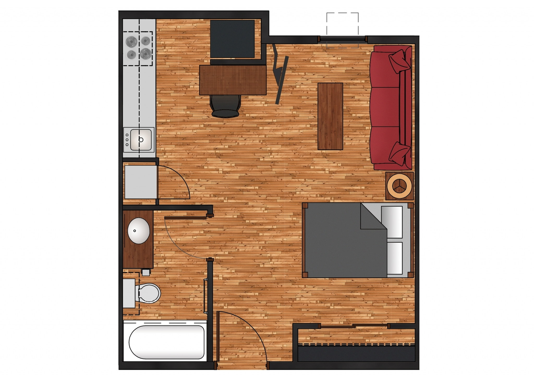 Studio, Apartment