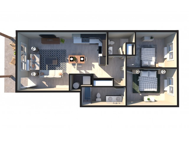 2bed middle