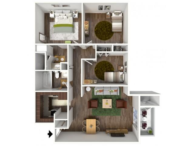 1 3 bed apartments stratus apartments - Colorado springs 1 bedroom apartments ...