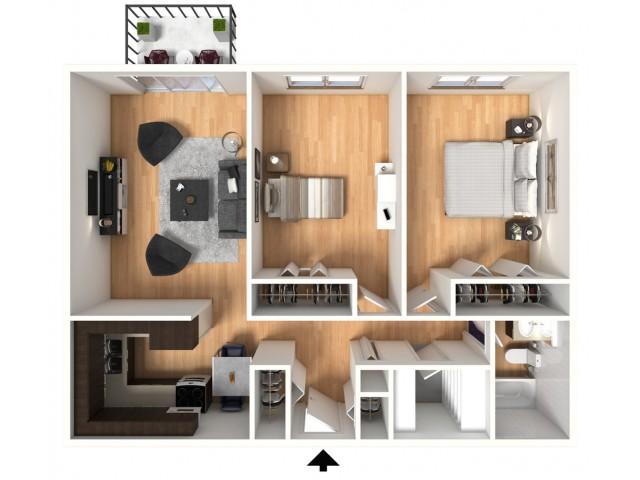 2 bed 1 bath apartment in colorado springs co villages - Colorado springs 1 bedroom apartments ...