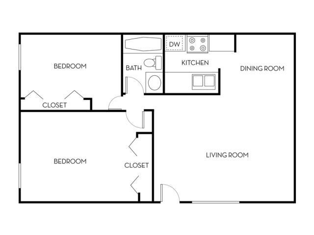 2x1 Floor Plan