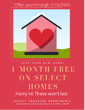 1 Month FREE rent on select homes! Apply quickly, these apartments will go FAST!! Come in to tour and apply online! <br><br>