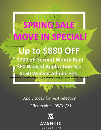 Spring Concession Flyer $880 off