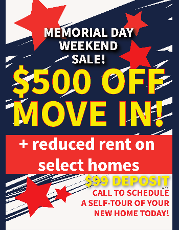 Memorial Day Concession offer.