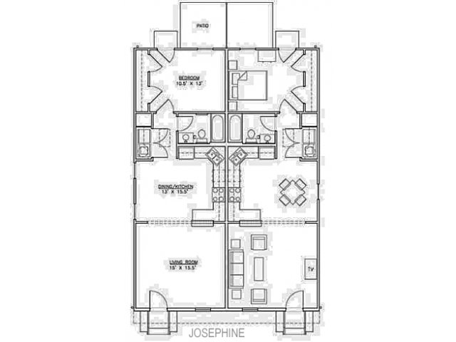 2 Bed Bath Apartment In New Orleans La River Garden On St