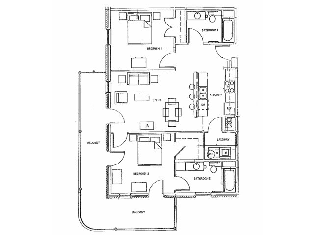 2 bed 2 bath apartment in new orleans la river garden - 2 bedroom apartments new orleans ...