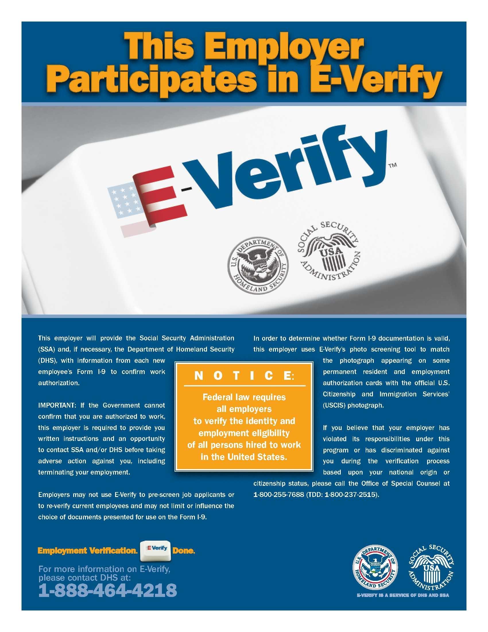 E-Verify Participation