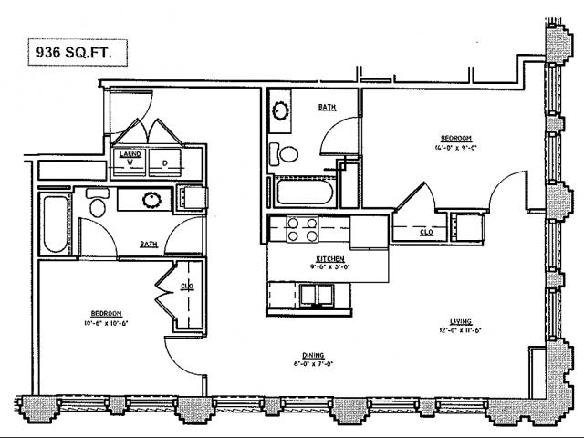 For The 2 Bedroom Flat Floor Plan.