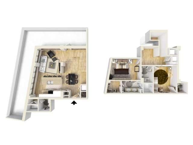 2 Bedroom Floor Plan | The Strand2