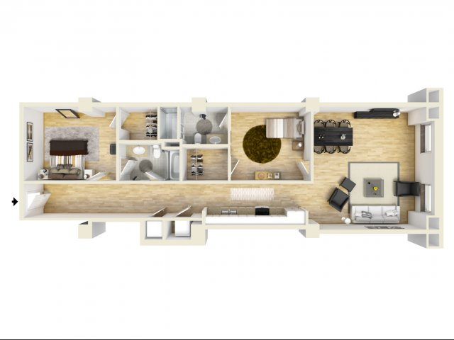 2 Bedroom Floor Plan | The Strand8