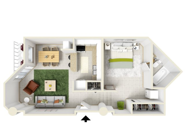 1 Bed 1 Bath Apartment In New Orleans La Woodward