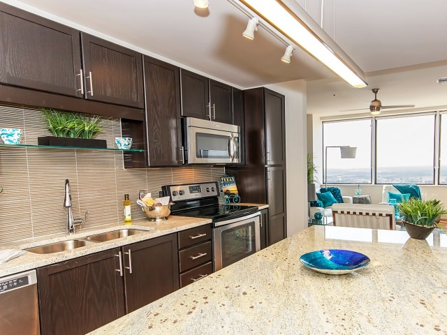Kitchen at LTV Tower Apartments
