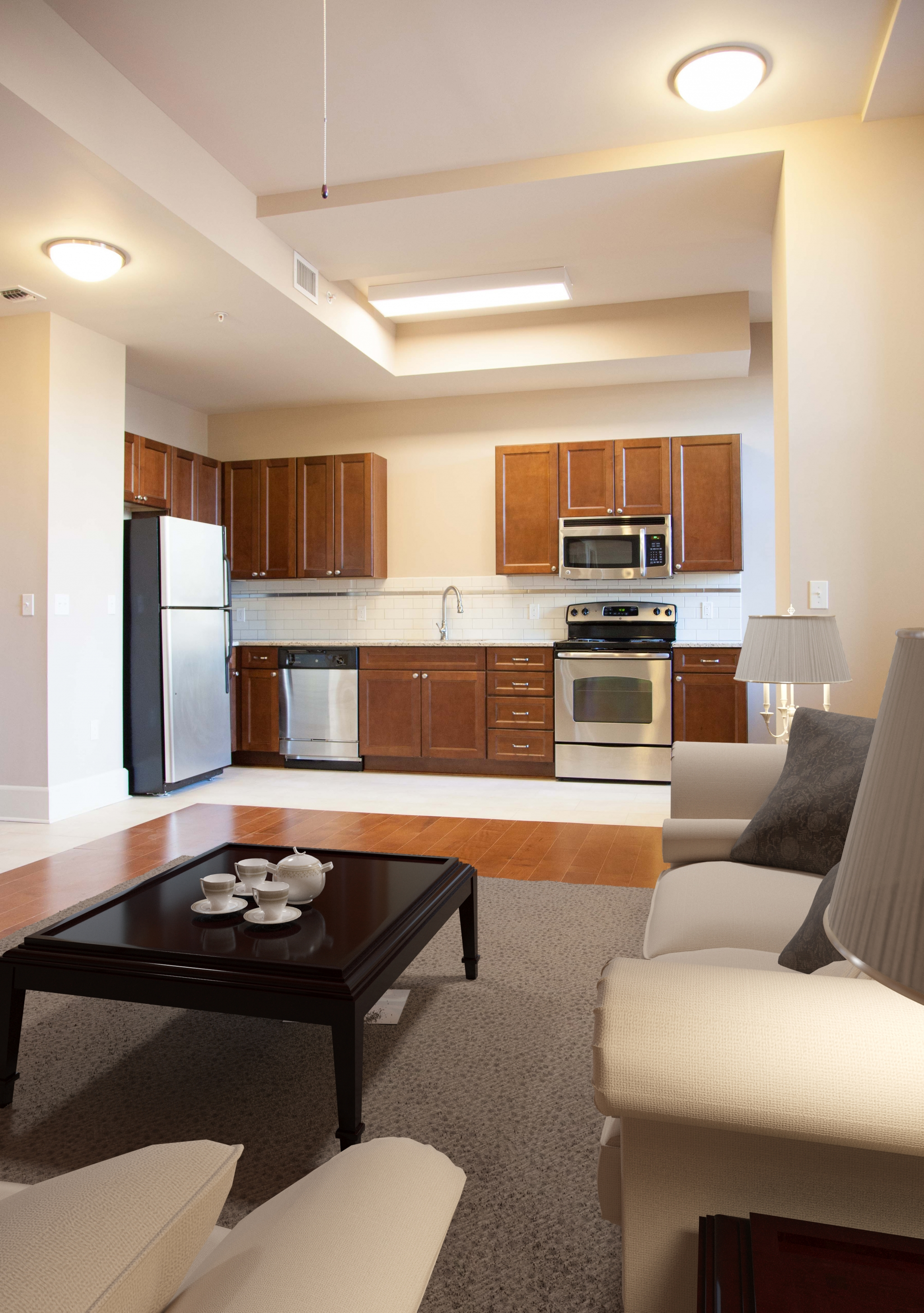 Image of GE Stainless Steel Kitchen Appliances for Hibernia Tower