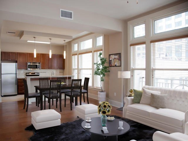 Image of Hardwood Flooring Throughout Living Spaces for Hibernia Tower