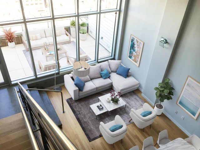 Image of 5 Exquisitely Designed Penthouses Located on the 30th Floor.  Featuring Private, Deluxe, Partially-Covered Terraces and Breathtaking Views of The Crescent City for The Strand