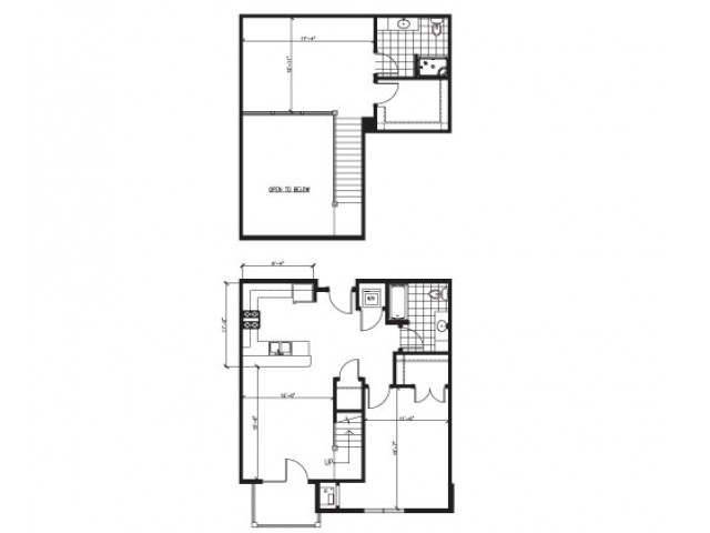 Lofted 2 Bed 2 Bath - F