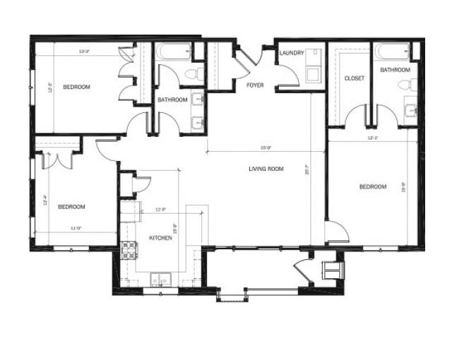 Building 1101 – Units 102-202-302