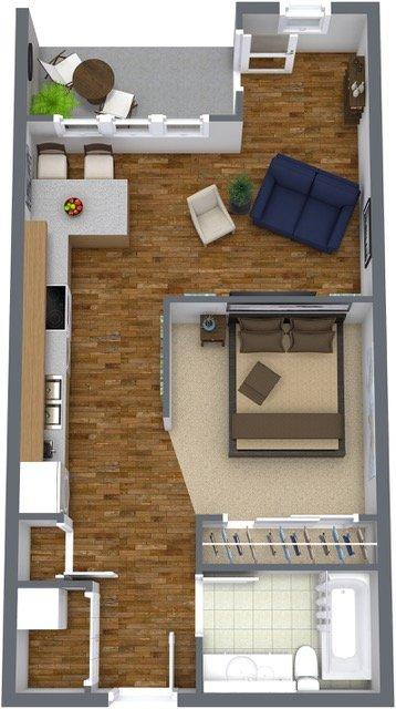 Studio Apartment Floorplan