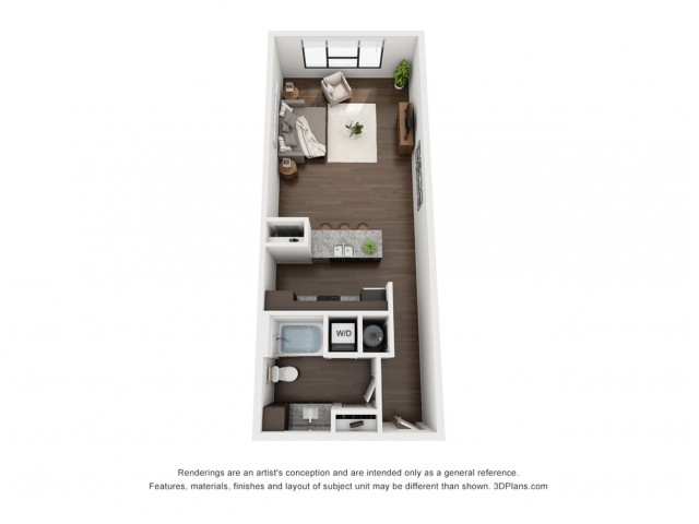 This beautiful open floor plan is located on the 4th or 5th floor.