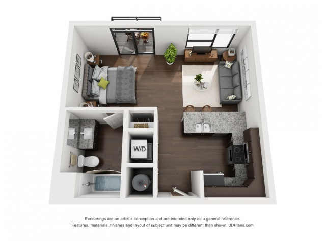 This bright and open floor plan is located in the 4th and 5th floor.
