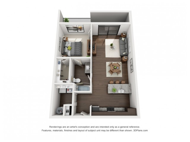 This amazing one bedroom floor plan is located on the very top floor with stunning views of the canal.