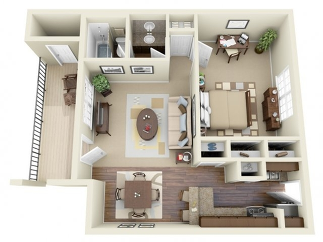 1 Bedroom Floor Plan | Apartments In Athens GA | Legacy of Athens
