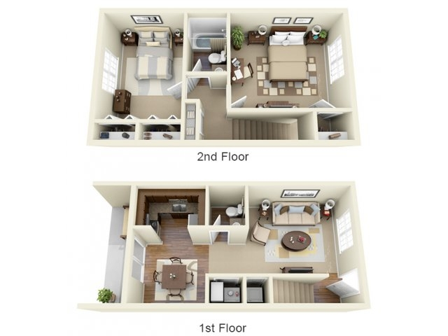 2 Bedroom Floor Plan | Apartments Athens GA | Legacy of Athens