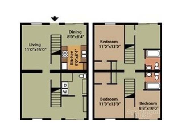 Floor Plan 3 | Ashley Village