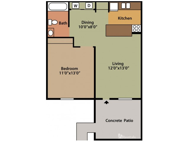 Floor Plan | Columbus Apartments | Abbington Village