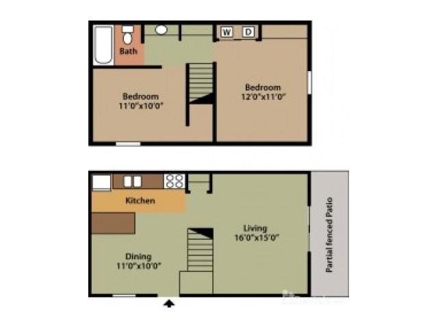 Floor Plan 1 | Columbus Apartments | Abbington Village