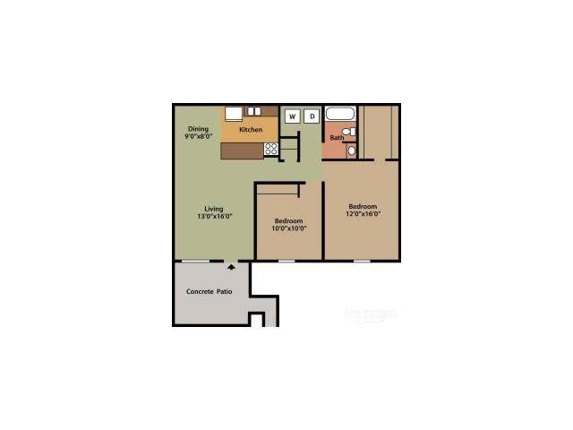 Floor Plan 2 | Columbus Apartments | Abbington Village