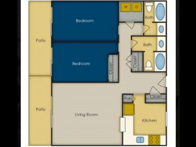 2 Bedroom Floor Plan | Olympia Village