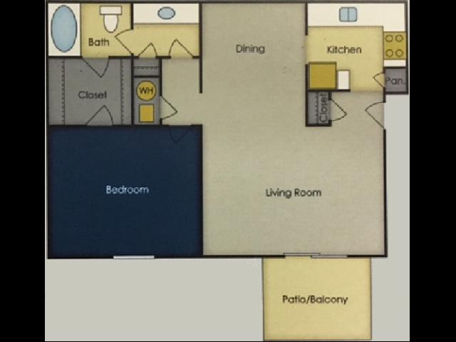 1 Bedroom Floor Plan 2 | Alpine Village
