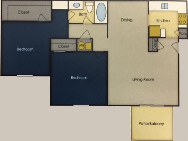 2 Bedroom Floor Plan 1 | Alpine Village