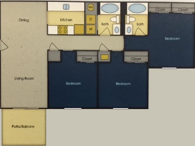 3 Bedroom Floor Plan | Alpine Village