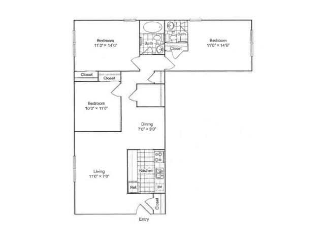 Floor Plan 2 | 901 Center Station