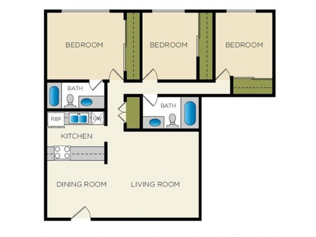 Floor Plan 2 | Terraces on the Parkway
