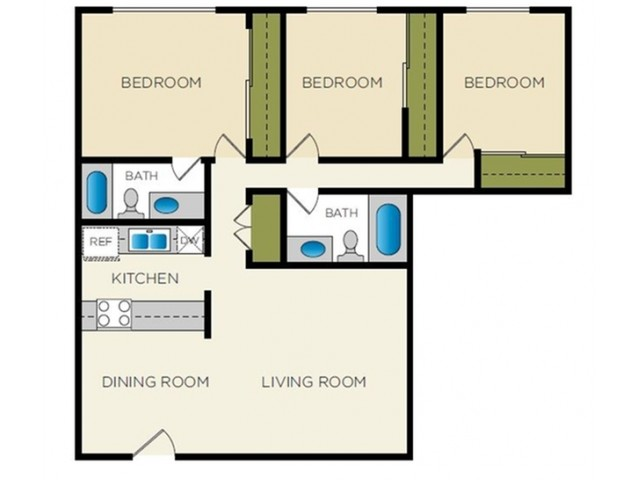 Floor Plan 3 | Terraces on the Parkway