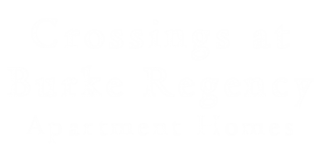 Crossings Burke Regency Logo | Apartment Pasadena TX | Crossings Burke Regency