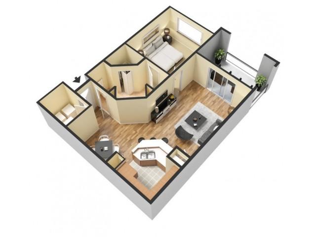 Floor Plan 1 | Apartments Winter Springs | The Park at Laurel Oaks