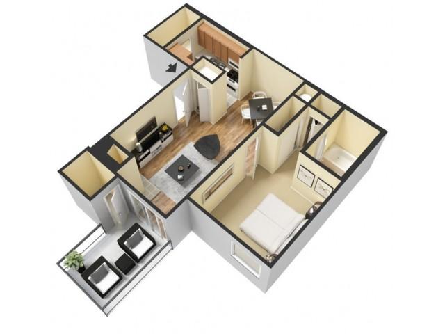 Floor Plan 2 | Apartments In Winter Springs FL | The Park at Laurel Oaks