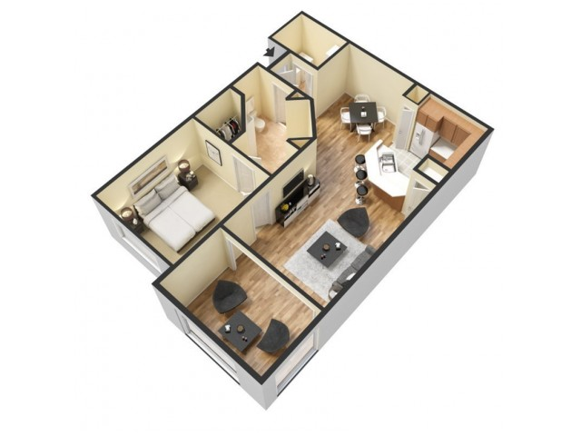 Floor Plan 5 | Winter Springs Apartments | The Park at Laurel Oaks