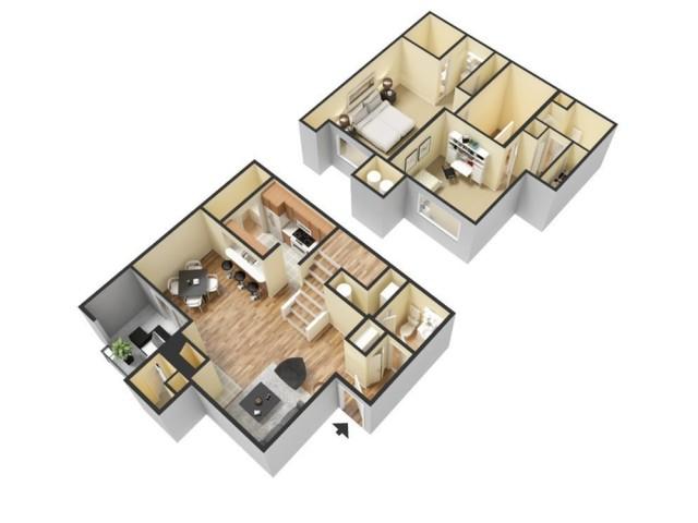 Floor Plan 10 | Winter Springs FL Apartments | The Park at Laurel Oaks