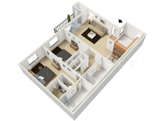 Floor Plan 2 | Tamarac Apts | Woodland Meadows