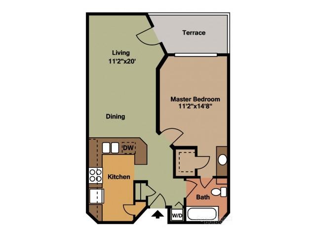 Floor Plan 1 | Apartments For Rent Tamarac FL | Midora at Woodmont