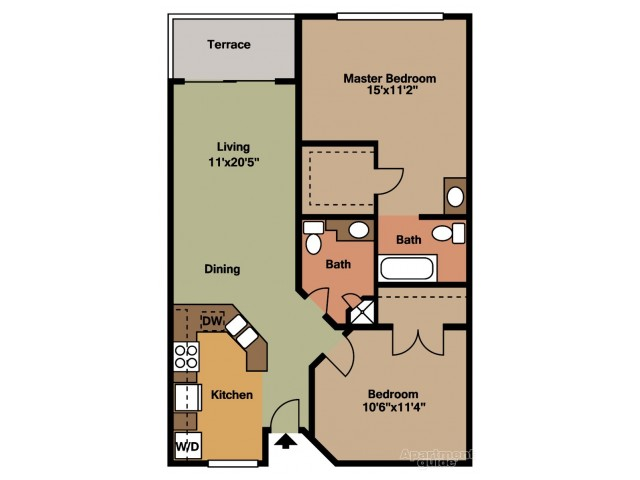 Floor Plan 2 | Apartments For Rent In Tamarac | Midora at Woodmont