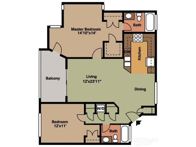 Floor Plan 5 | Tamarac Apts | Midora at Woodmont